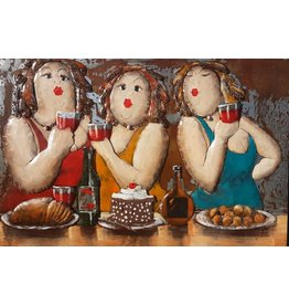 Eliassen Metal painting 3 ladies 80x120cm