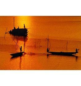 Wandkraft Wandkraft glasschilderij  waterland 118x70cm