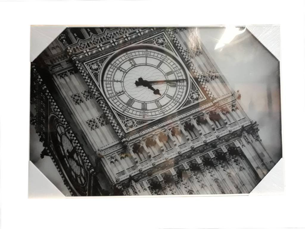Glasschilderij Big Ben 60x90cm