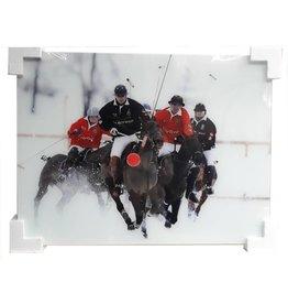 MondiArt Glasmalerei Polospieler 60x80cm