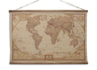 Eliassen Wandkaart The World 90x63cm