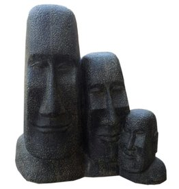 Triple Moai statue