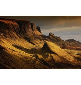 Wandkraft Glasmalerei Schottische Landschaft 148x98cm