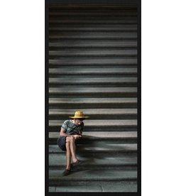 Wandkraft Malen Forex Auf der Treppe 48x98cm