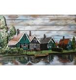 Schilderij 3d metaal-hout De Zaan  80x120cm