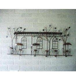 Wanddekoration Terrasse