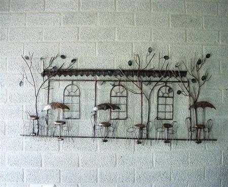 Muur decoratie Terras