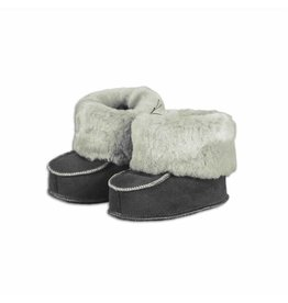 Baby slippers sheepskin gray