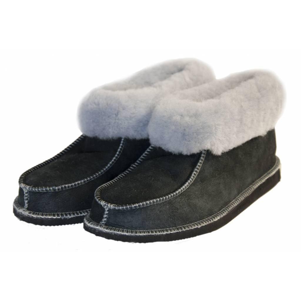 Wollen dames pantoffels Blauw