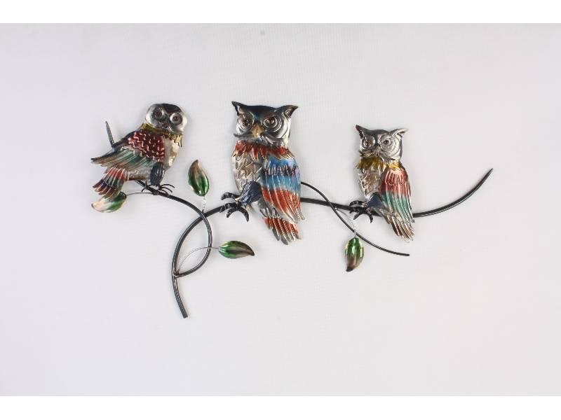 Wanddekoration Eulen auf Zweig