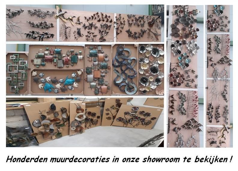 Muur decoratie Takken met vlinders 61x80cm