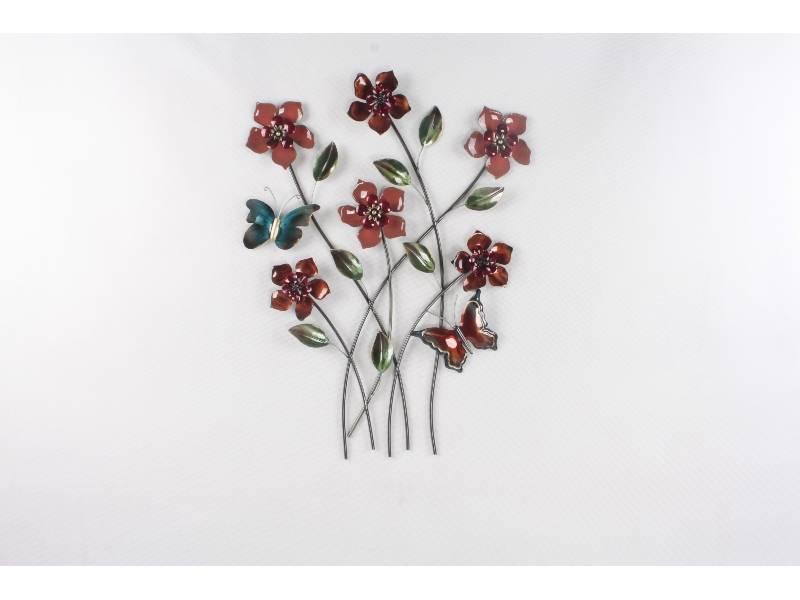 Wanddekoration Zweige mit Schmetterlingen 61x80cm