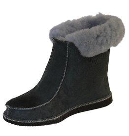 Wool slippers high model Blue