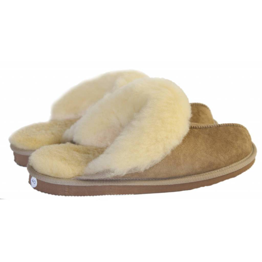 Damen Slipper Camel