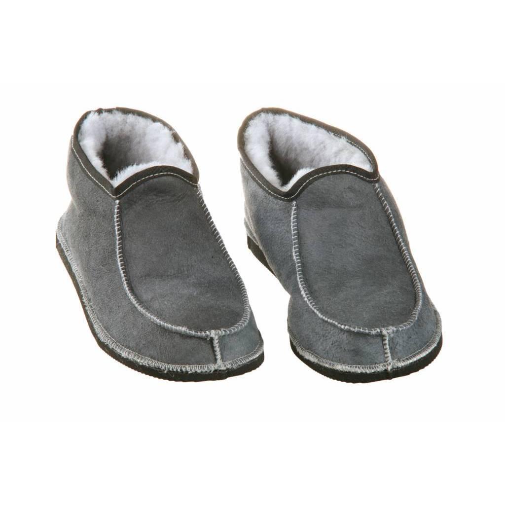 Herren Wollhausschuhe Blau / Grau