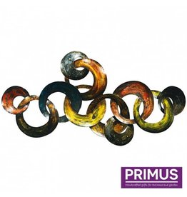 Wanddekoration 3D Ringe 103x50cm