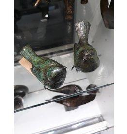 Bronze-Set mit 2 Spatzen
