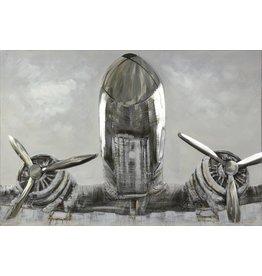 Ölgemälde Flugzeug 124x84cm