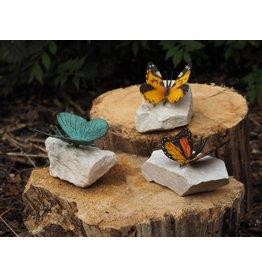 Eliassen Farbiger Schmetterling auf Steinbronze