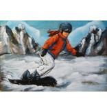 Eliassen 3D schilderij metaal 80x120cm Snowboarder