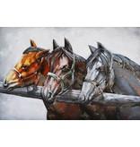 Eliassen 3D Malerei Metall 80x120cm 3 Pferde