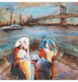 Eliassen Metaal schilderij 100x100cm  terras New York