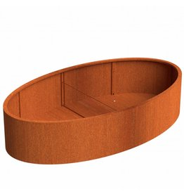 Adezz Producten Blumenkasten Ellipse Adezz corten steel