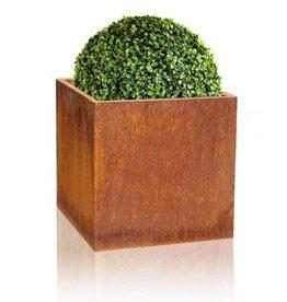 Pflanzgefäße setzen Corten-Stahl quadratisch 4 Teile