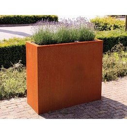 Corten steel box rectangle high