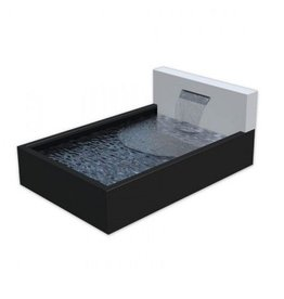 Adezz Producten Pond box aluminum Adezz with wall and waterfall + LEDs