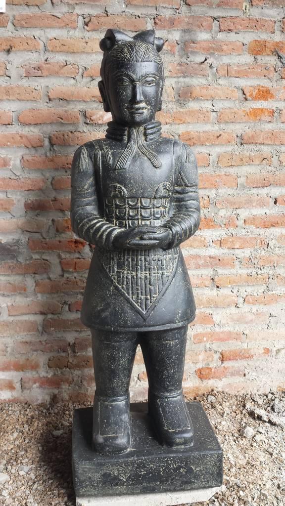 Eliassen Chinese krijger beeld 80cm