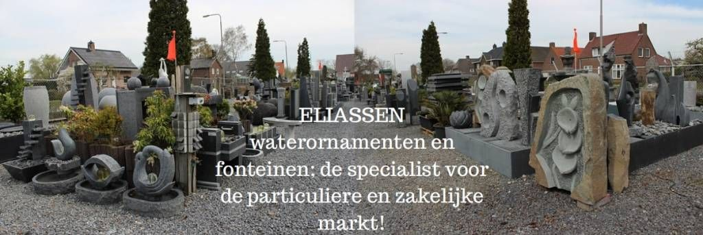 Eliassen Waterbol Source graniet 3 maten