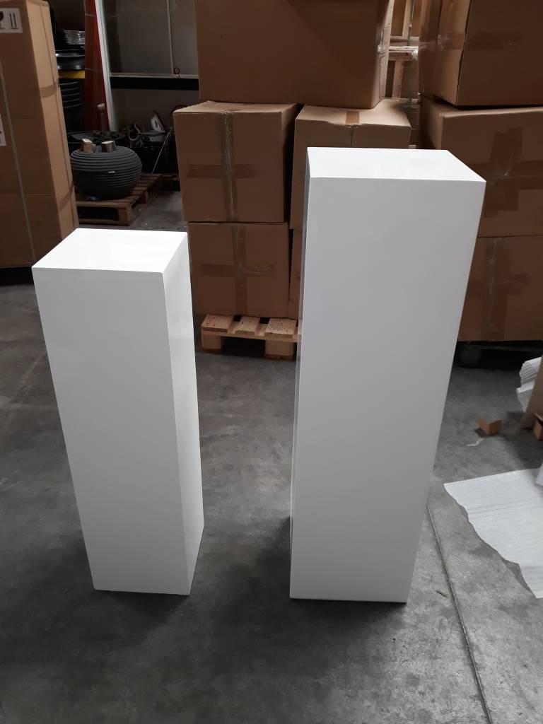 Eliassen Zuil  hoogglans Urta wit 120cm