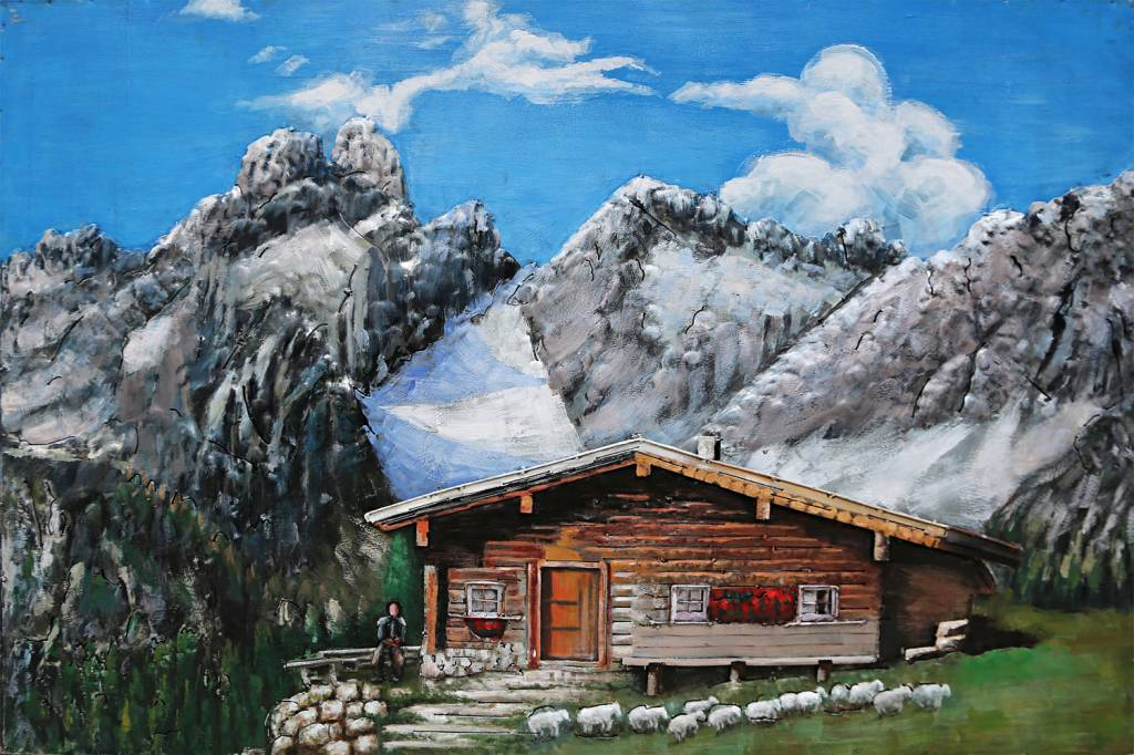 Eliassen 3D schilderij ijzer 80x120cm Berghut