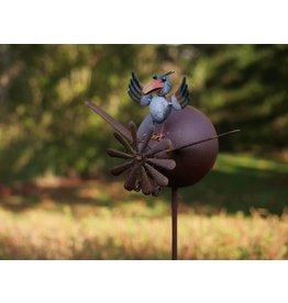 Eliassen Windmühlengartenfeuerzeug mit Vogel