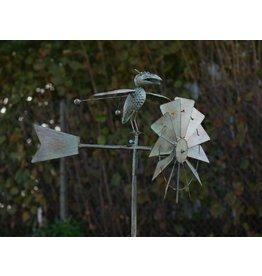 Eliassen Windmill garden lighter with bird