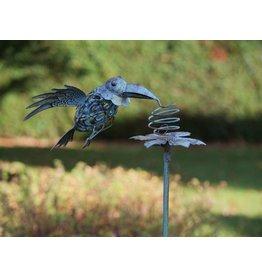 Eliassen Gartenstecker, der Vogel bewegt