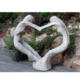 Eliassen Gartenstatue Tristan und Isolde in Herzform