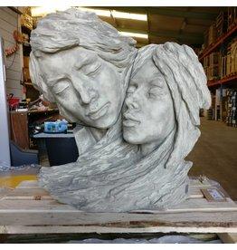 Eliassen Gartenstatue Gesichter paar