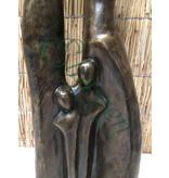 Eliassen Bronzeskulptur Familie XXL 2 Kinder