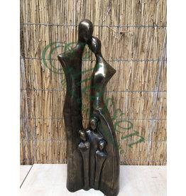 Eliassen Bronzeskulptur Familie XXL mit 3 Kindern
