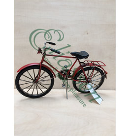 Miniature model red bicycle