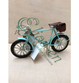 Miniature model bicycle with suitcase