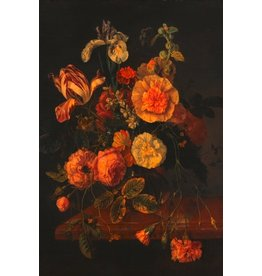 Ter Halle Glass painting 80x120 Flowers