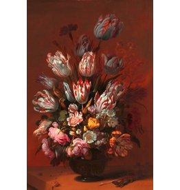 Ter Halle Glasmalerei 80x120 Blumenvase