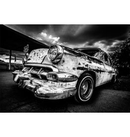 Ter Halle Glasmalerei 80x120 Auto schwarz / weiß