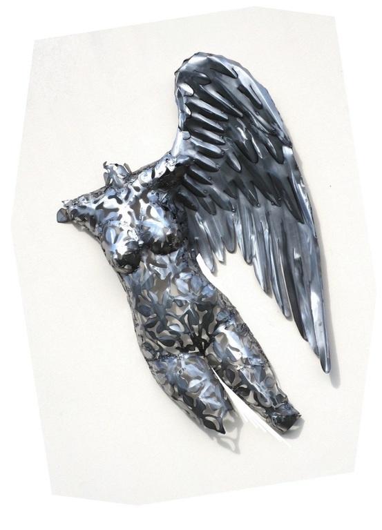 Eliassen Vrouwen torso met vleugel RVS