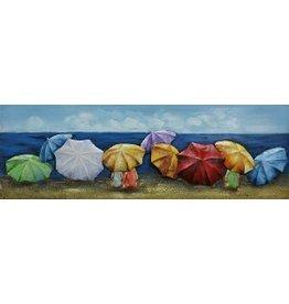 Eliassen Schilderij ijzer 3D 60x150cm Parasols