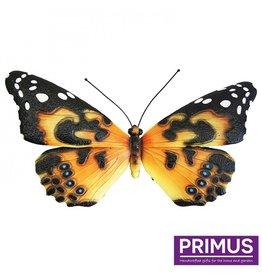 Metalen gele vlinder