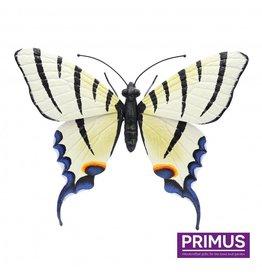Metal light yellow butterfly